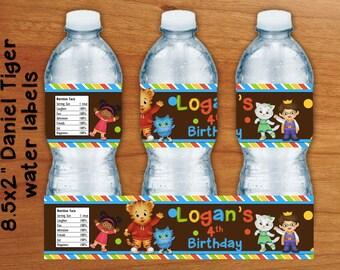 Daniel Tiger water bottle label DIY