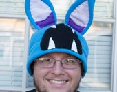 Zubat Pokemon Fleece Hat Beanie Winter Cap Cute Nintendo Adult Sized Anime Cartoon Video Game Character Bat Creature Monster Costume Cosplay