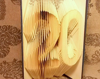20th Twenty Birthday Gift - 20th Wedding Anniversary Present - Altered Book with Two Number(s) of your choice - Unique - Date - E172