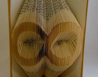Infinity folded book art - Personalized unique Anniversary Gift - book origami - forever - gift for him/her - home decor - E224