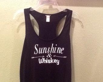 Sunshine & Whiskey Racerback Tank