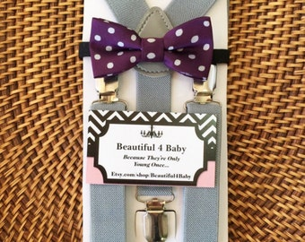 Items similar to Yellow bow tie with grey chevron ...