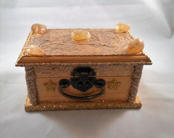 Wooden Treasure Box #94