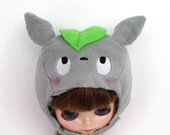 Blythe Pullip hat helmet - kawaii Totoro - curious cute and soft