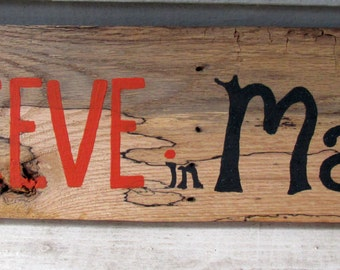 """Handcrafted Reclaimed Pallet Sign """"Believe in Magic"""" -Halloween, holidays, pallet, reclaimed, sign, outdoor decor"""