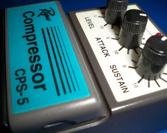Vintage Guitar Effects Pedal Rogue Compressor CPS-5