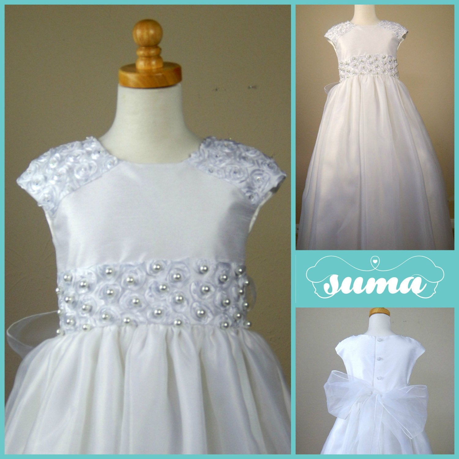 first munion dress flower girl dress first holy by SUMACLOTHING