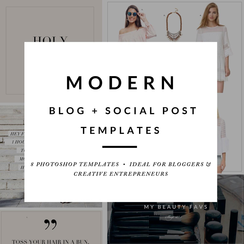 Moderne Blog-Post-Template-Paket Blog-Post Grafiken