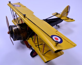 Metal/Aluminum Craft Vintage Curtiss JN-4 Airplane Model GHR7237A