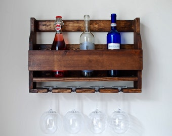 Rustic Wine Rack, Rustic Wood Wine Rack, 6 Bottle Wine Rack, Wine Rack Part 54