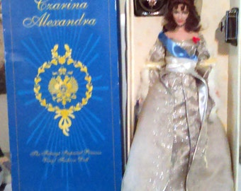 "Franklin Mint The House of Faberge Czarina Alexandra Imperial Princess 16"" Vinyl Fashion Doll"
