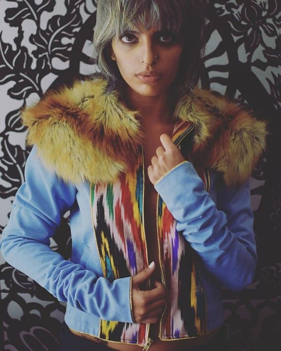 Faux Fur Denim jacket (Jhilmil)