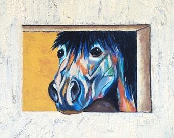 Abstract Horse Art, Horse Painting, Original  Art Painting, Giclee 8x10, Abstract Print, Equine Painting, Pet Lover, Equestrian Gift