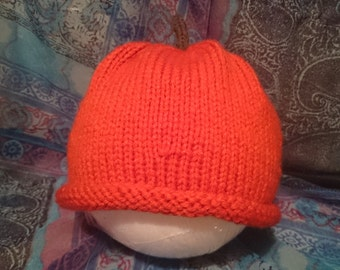 Pumpkin or Tomato Toddler's Hat 6-12 months