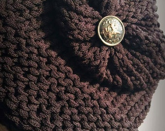 Children's Dark Brown Slouchy Hat