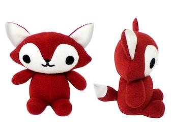 Fox Pattern, Toy Animal Pattern, Fox PDF Sewing Pattern, Foxy Pattern, Plush Fox Toy DIY, Fox Toy Sewing, Plush Fox Pattern, Stuffed Fox PDF