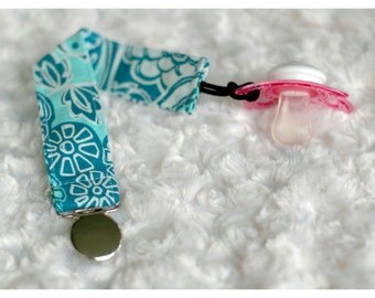 Blue Pacifer Clip ~baby shower gift, universal, nuk, soothie, mam~