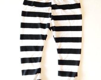 Black and white striped leggings | Etsy