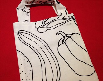 Colour-me-in Mini Tote - Courgette