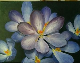 flowers. acrylic.