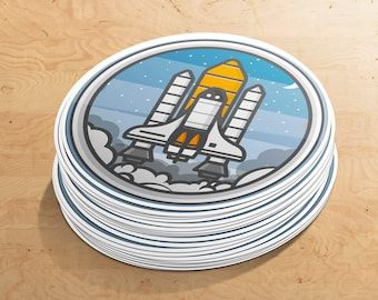 Rocketship Sticker