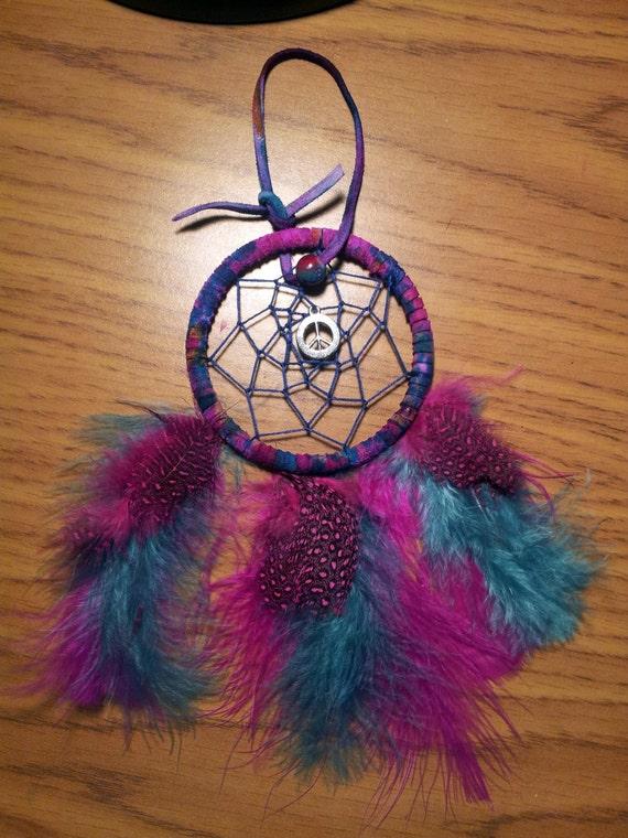 peace tie dye dream catcher by arizonadreamcatchers on etsy. Black Bedroom Furniture Sets. Home Design Ideas