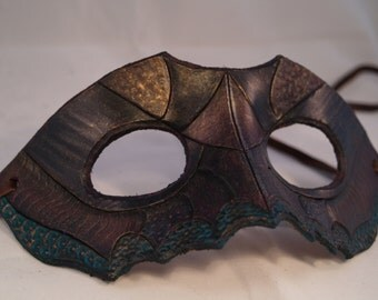 Abstract Leather Half-mask