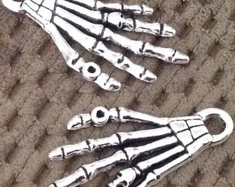 Skeletons Hands Charms set of 2