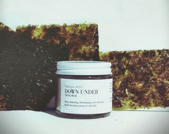 Down Under - Face Mask, All Natural, Sea Mud Mask, Blackhead Mask, Acne Mask, Exfoliating Mask, Detox Mask, Deep Cleansing Mask