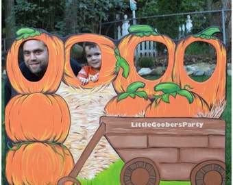 Pumpkin Patch Photo Booth Board (Wooden) Kids size . Fall Festival Photo Board