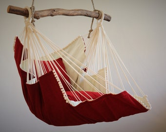 Hammock chair (red/white)