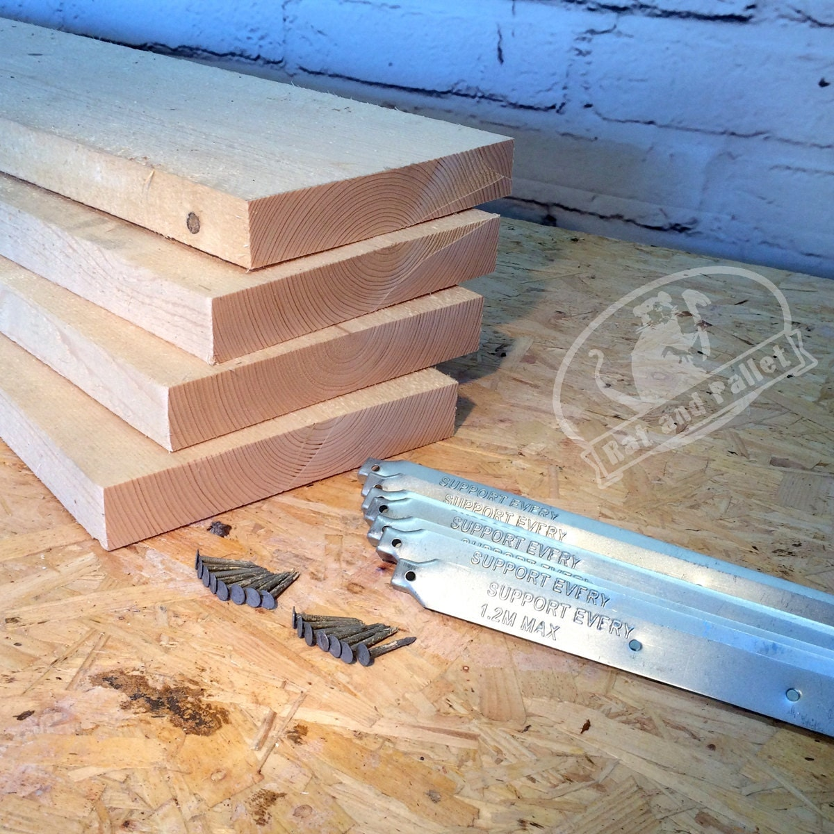 Scaffold Boards Planks With Metal Band Ends Make Scaffold
