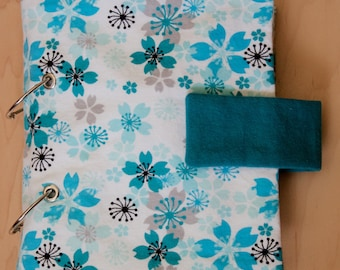 Quiet Book Cover With Button or Velcro Closure and Inside Pocket - Quiet Book