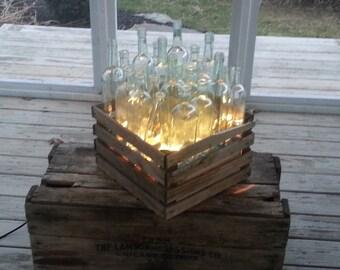 wine bottle light box
