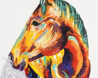 horse painting horse art by aidan weichard original painting on canvas abstract animal