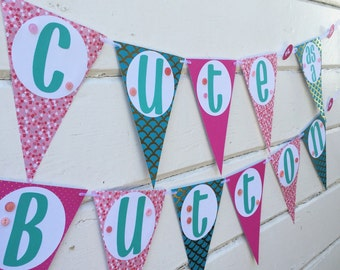 Button Baby Shower Banner - Baby Shower decorations - Cute As A Button Baby Shower - Cute as a Button - Button Decor - Baby Shower Banner