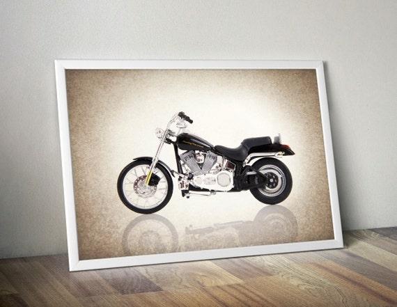 Items Similar To Harley Davidson 2000 Softail Photo Print
