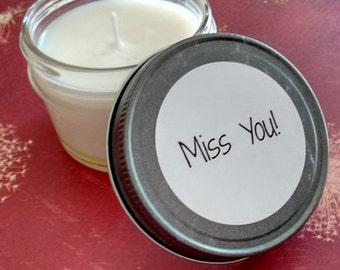 Miss You Gift, Soy Candles, Miss You Candle, Across the Miles, Far Away Friends, Missing You, Long Distance Gift
