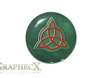 Fan-made Charmed Book of Shadows cosplay inspired personalized button