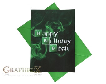 Fan-made Breaking Bad personalized birthday card
