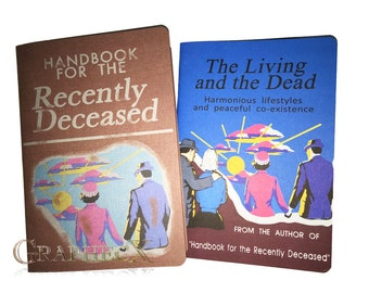 Fan-made Handbook for the Recently Deceased Living and the Dead inspired personalized journal notebook