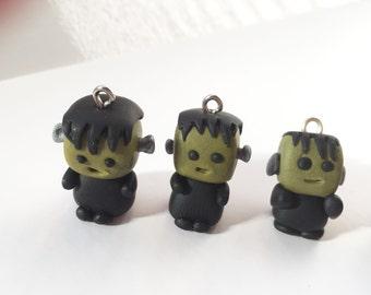 Frankenstein Polymer Clay Charm