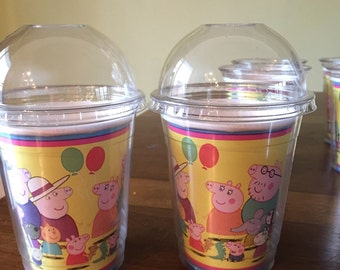 Peppa Pig party cups- set of 8