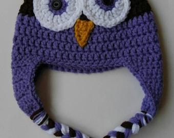 Crochet Classic Owl Hat