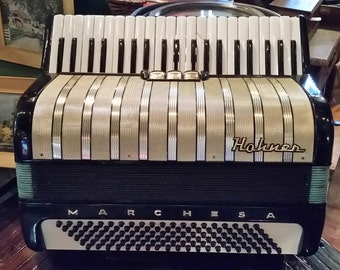 Hohner Marchesa Piano Style Accordion with Case