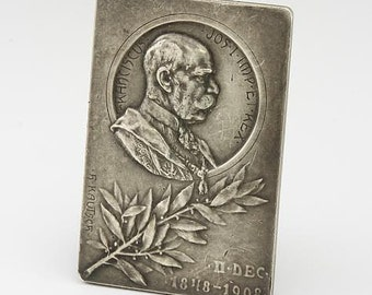 Societe De Binfaisance Silver Franz Joseph I Austria Hungary Jubilee Medal 1848 1908 Paris