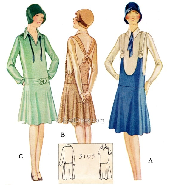 1920s Patterns – Vintage, Reproduction Sewing Patterns 1927 Frock Pattern by EvaDress! $20.00 AT vintagedancer.com
