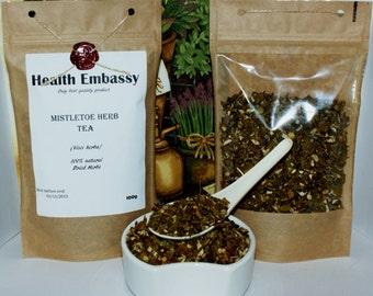 Mistletoe Herb Tea (Visci Herba) 100g - Health Embassy - Organic