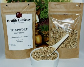 Soapwort Root-Stock (Saponaria officinalis - rhizoma) 100g - Health Embassy - Organic
