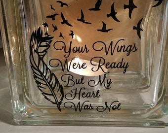 Wings were Ready Glass Block
